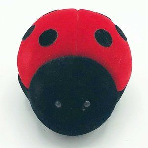Velvet Ladybug Necklace Holder Mini Box